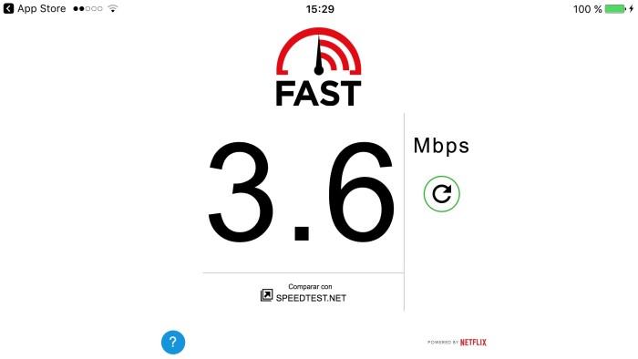 Fast, la app de Netflix para medir tu velocidad de conexión