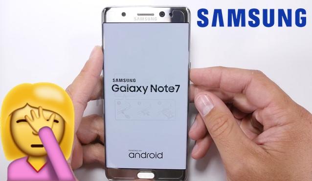 galaxy note 7 samsung prueba dureza