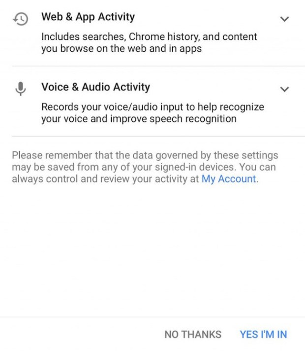 Permisos al instalar la aplicación Allo de Google