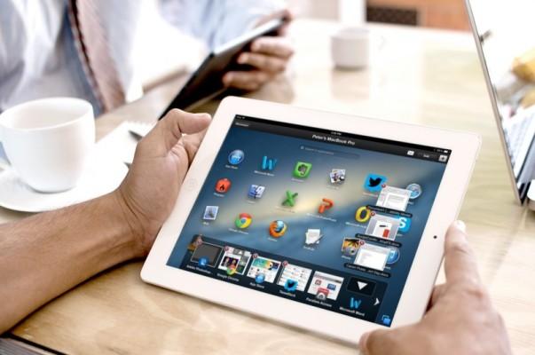 Parallels Access siendo utilizado en un iPad