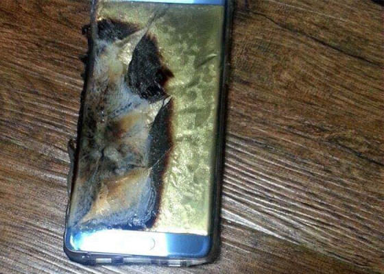 Samsung detiene las ventas del Note7 por baterías que explotan