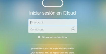 Inicio de sesión iCloud