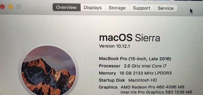 MacBook Pro - Wrong GPU