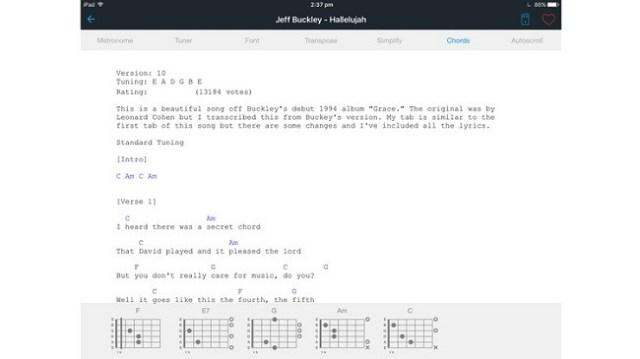 aprende guitarra con el ipad 5