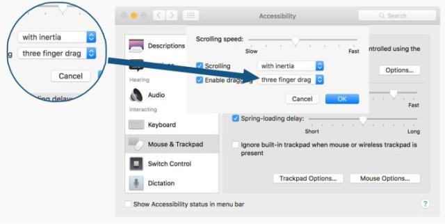 Activar gestos con tres dedos en el nuevo MacBook Pro