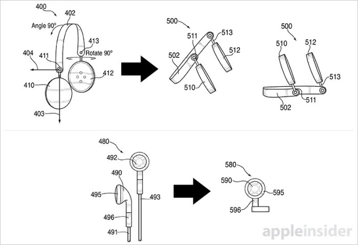 auriculares patente