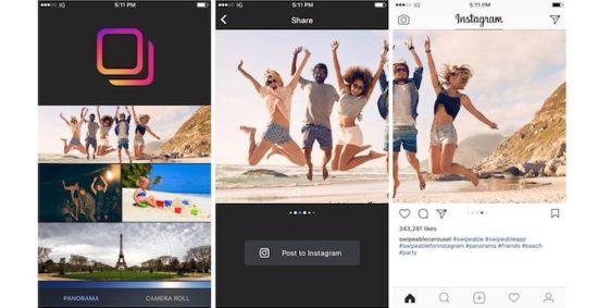 Subir fotos panorámicas y 360º usando los álbumes de Instagram