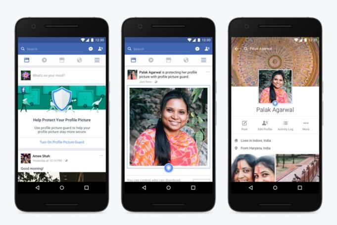 Protección fotos de perfil Facebook