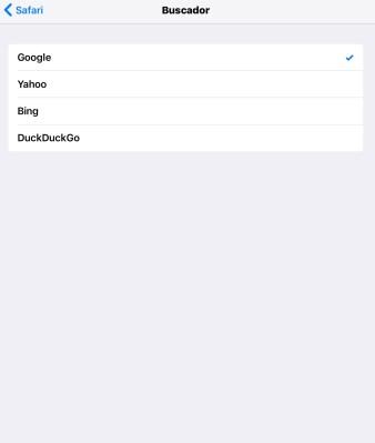 Cambiar buscador en Safari