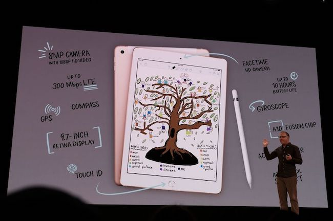 Apple presenta un nuevo iPad de 9,7″ y soporte para Apple Pencil