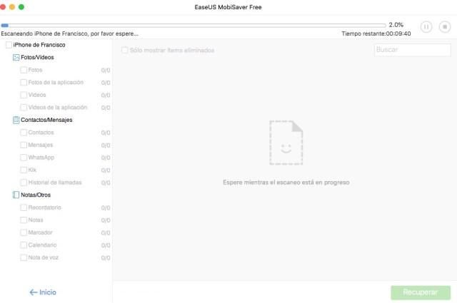 EaseUS MobiSaver: recuperación de archivos