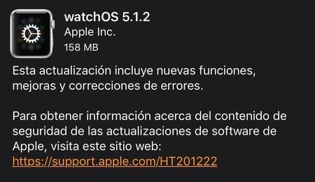 Nueva actualización para apple watch