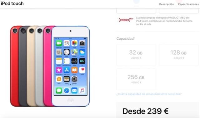 iPod touch precios España