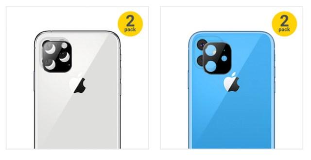 Protectores para cámara iPhone XI y iPhone XR 2