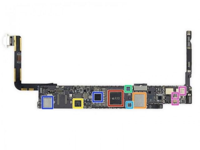 La posición de los imanes junto al chip A10