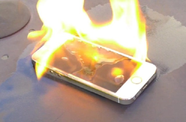 iPhone ardiendo
