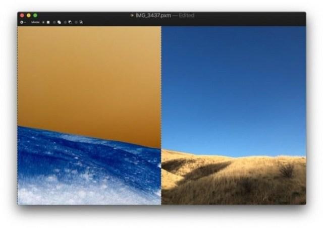 invertir imagen en pixelmator con teclado