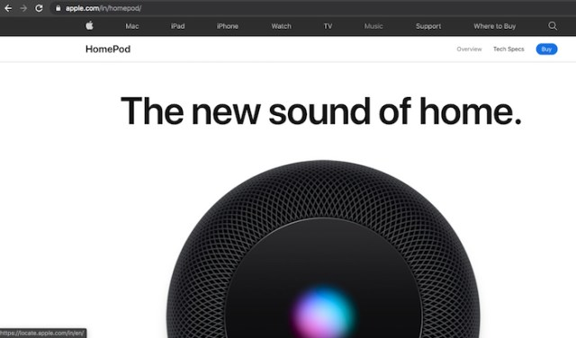 HomePod India