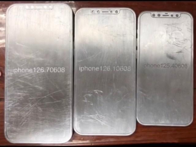 Presuntos moldes del iPhone 12