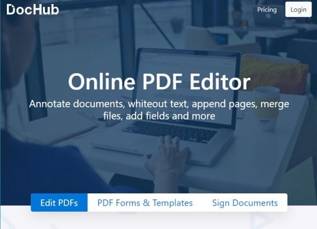 Editor PDF online dochub
