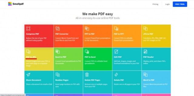 SmallPDF: conversión de PDF a JPG