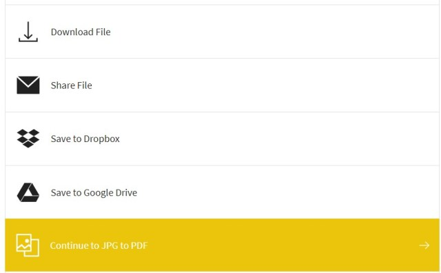 descargar archivo convertido desde SmallPDF