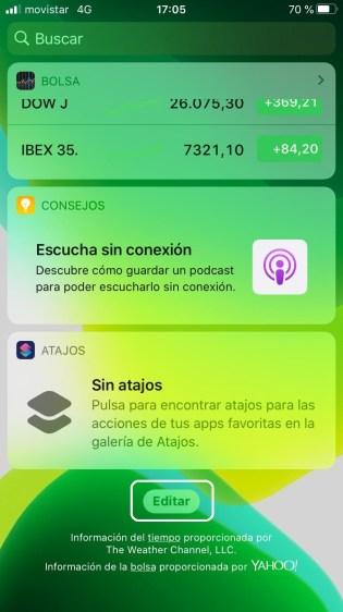 Editar widgets en iPhone y iPad