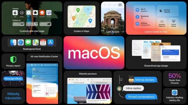 macOS Big Sur novedades