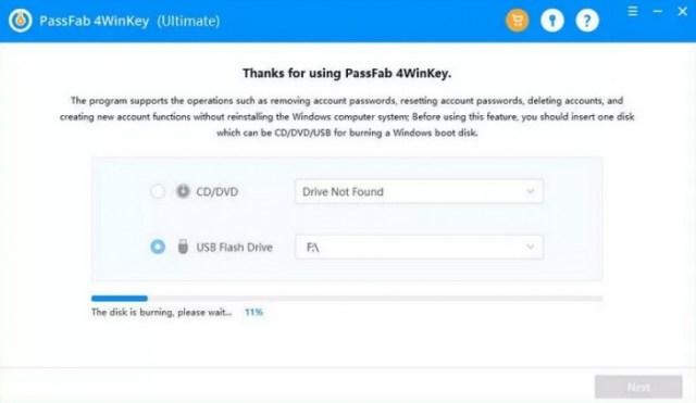 Paso 1 recuperar contraseña de Windows 10