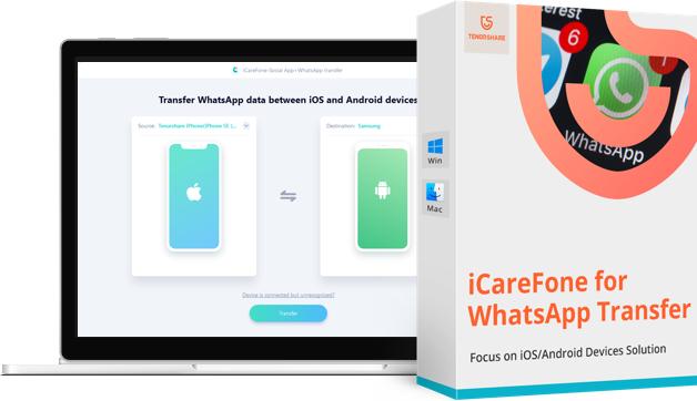 iCareFone migra mensajes de WhatsApp