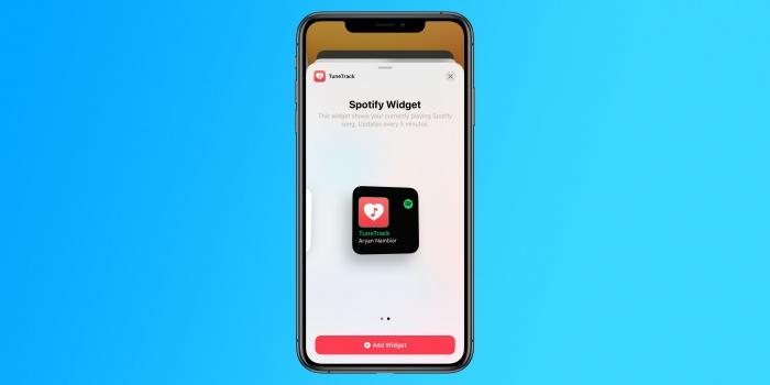TuneTrack lleva el Widget de Spotify a la pantalla de inicio en el iPhone