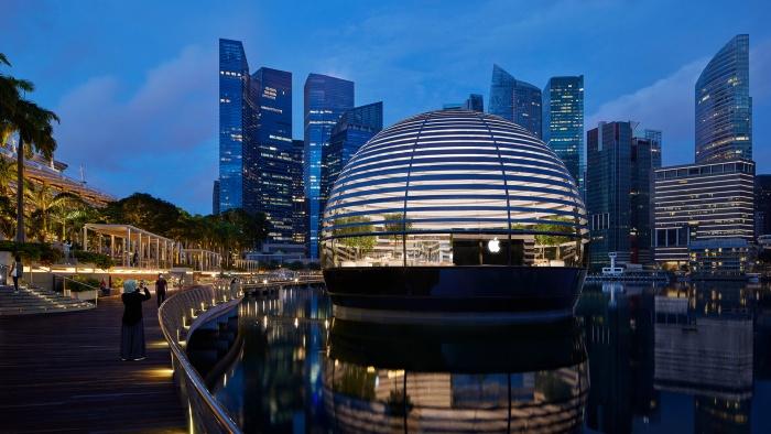Apple Marina Bay Sands ilumina Singapur