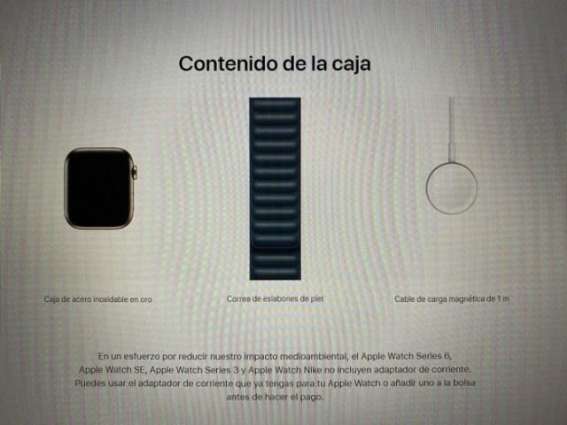 Cargador en Apple Watch