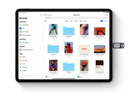 Conectar unidad USB a iPhone o iPad