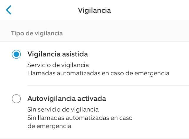 Tipos de vigilancia Ring Alarm