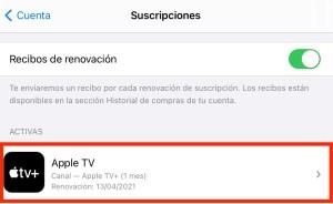 Ver suscripción a Apple TV+