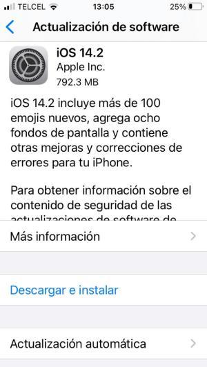 Actualizar versión de iOS