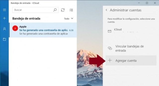 Añadir una cuenta en la app de Correo de Windows 10