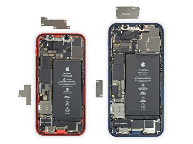 Comparativa de cuerpo iPhone 12