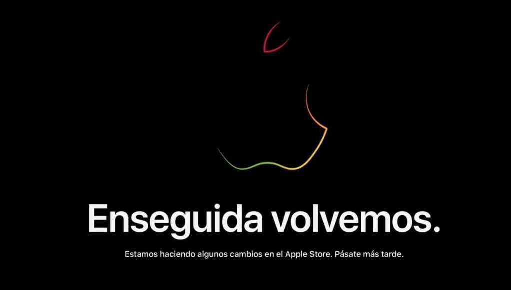 La pagina Web de Apple en obras