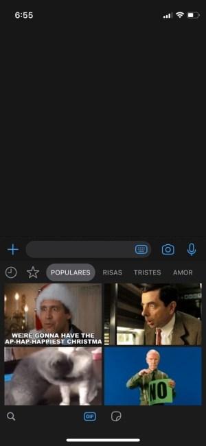 Buscador de GIF en WhatsApp