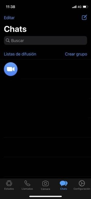 WhatsApp en modo oscuro en el iPhone