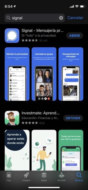 Actualizar o descargar Signal en iOS 14
