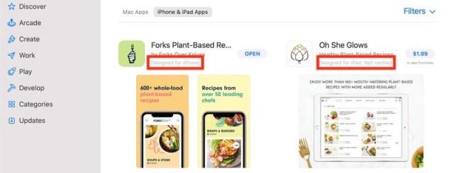 Apps de iOS y iPadOS