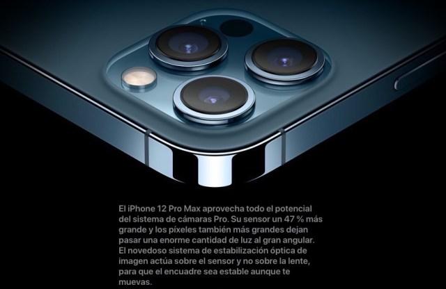 Estabilización óptica de imagen iPhone 12 Pro Max