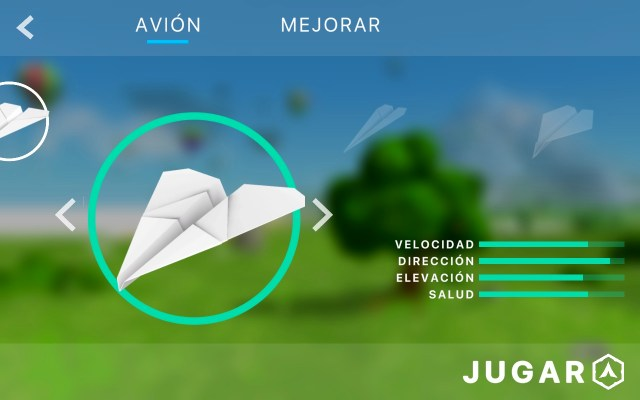 Mejorar avion de papel