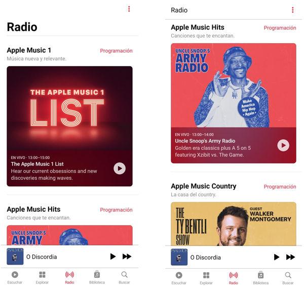 Radio principal Apple Music 1 y populares