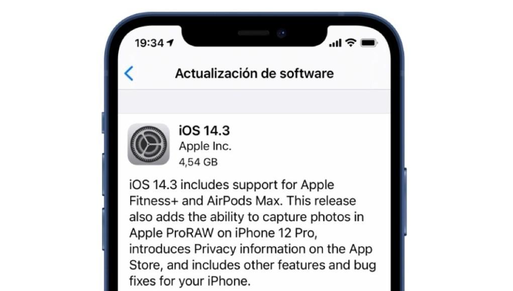 Actualización iOS 14.3