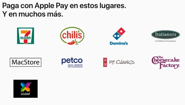 Comercios que aceptan Apple Pay en Mexico