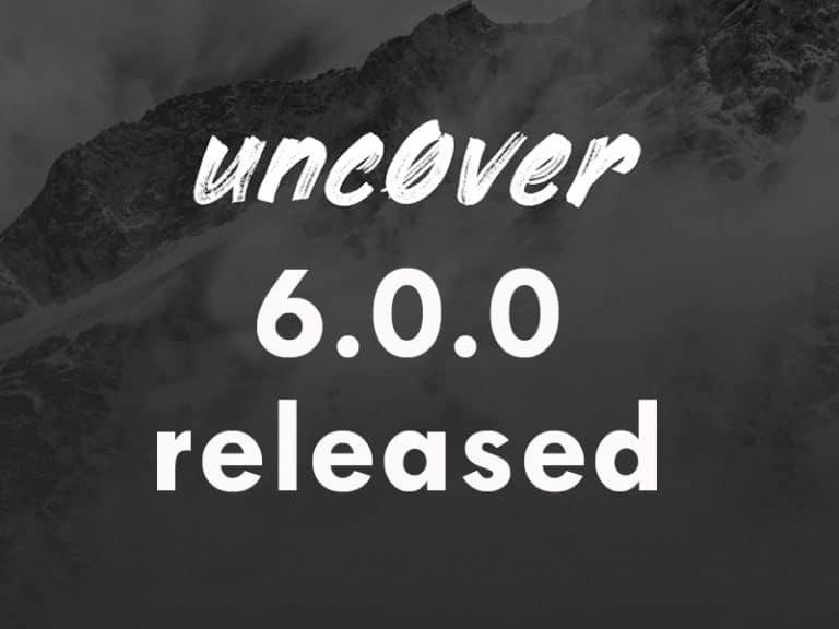Nueva versión de Unc0ver